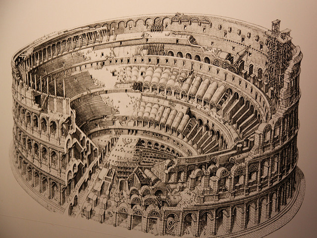 Colosseum old image - Colosseum facts for kids