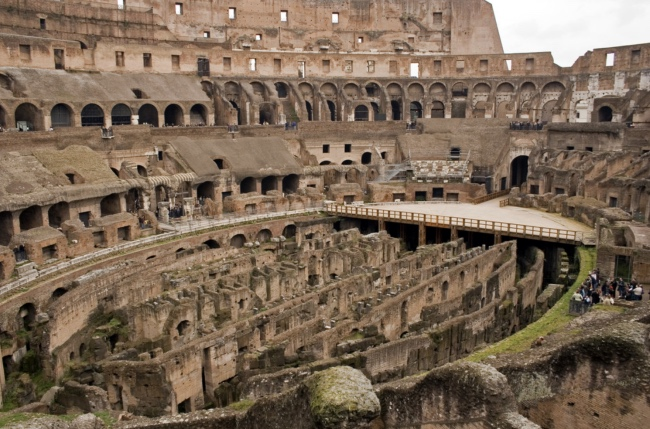 Inside the colosseum - colosseum facts